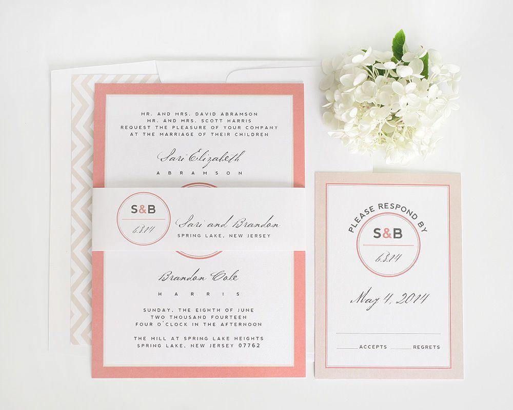 Modern Circle Logo Wedding Invitations | Wedding stationary ...