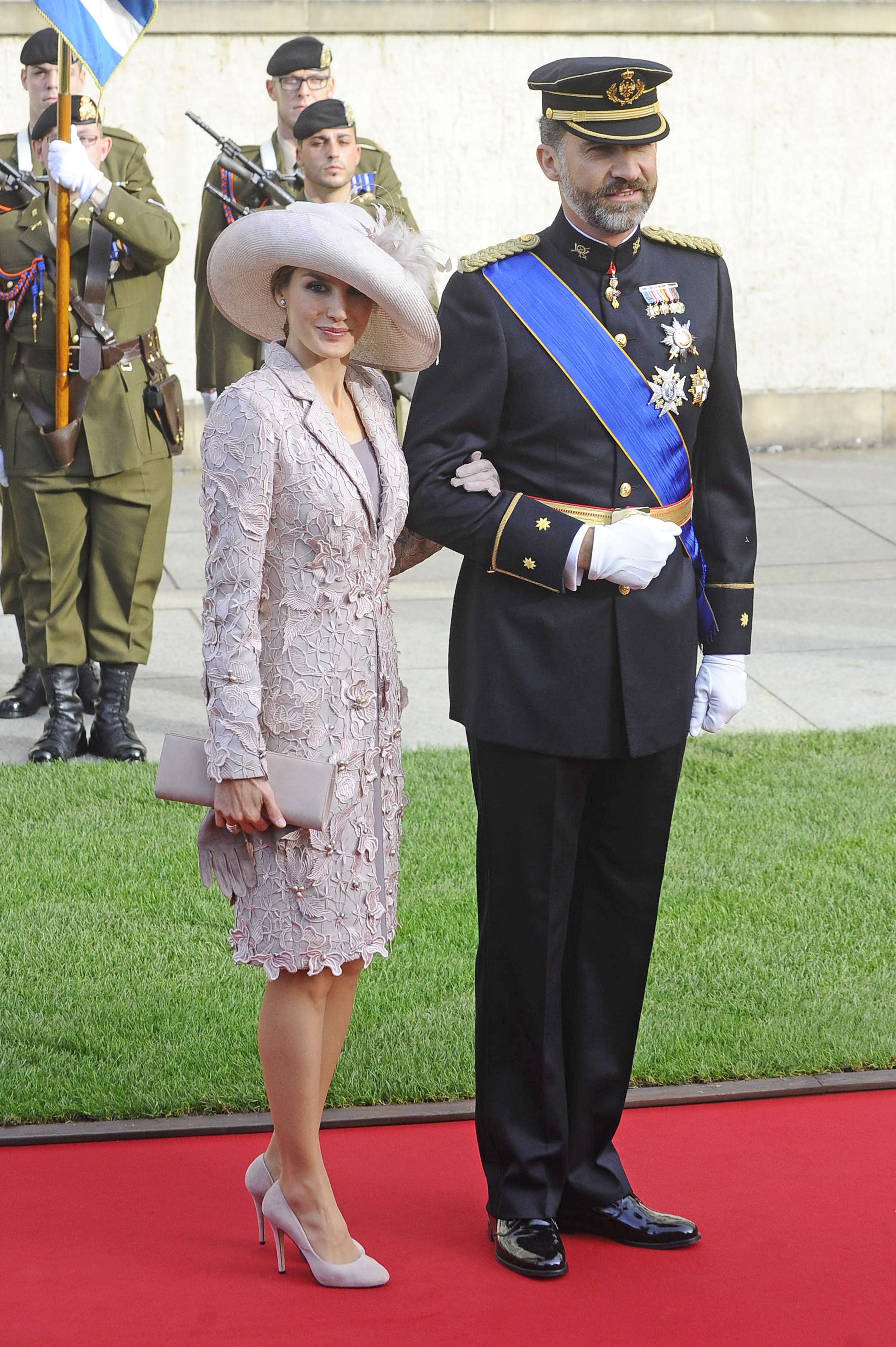 HRH Hereditary Grand Duke Guillaume married the Belgian Countess Stéphanie de Lannoy in a religious ceremony on Saturday October 20, 2012 and Don Felipe and Doña Letizia represented the Spanish Royal House.