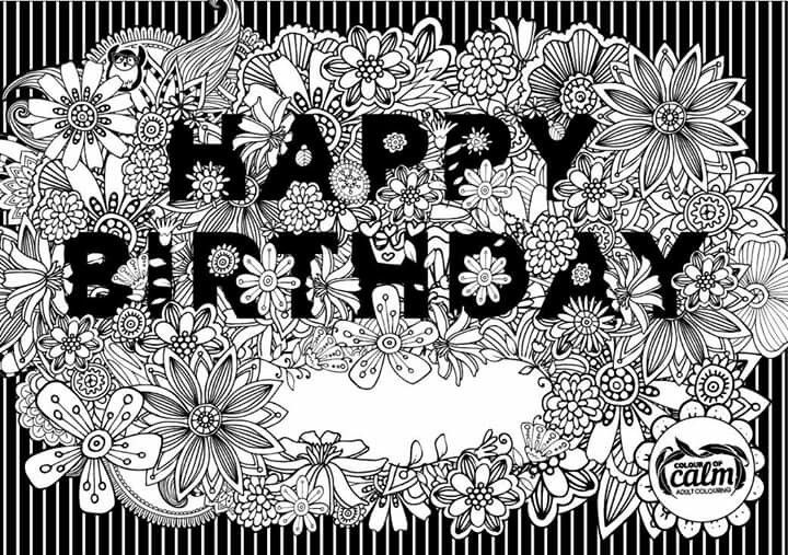 Happy Birthday Colouring Pages Free Coloring Pages Mandala Coloring