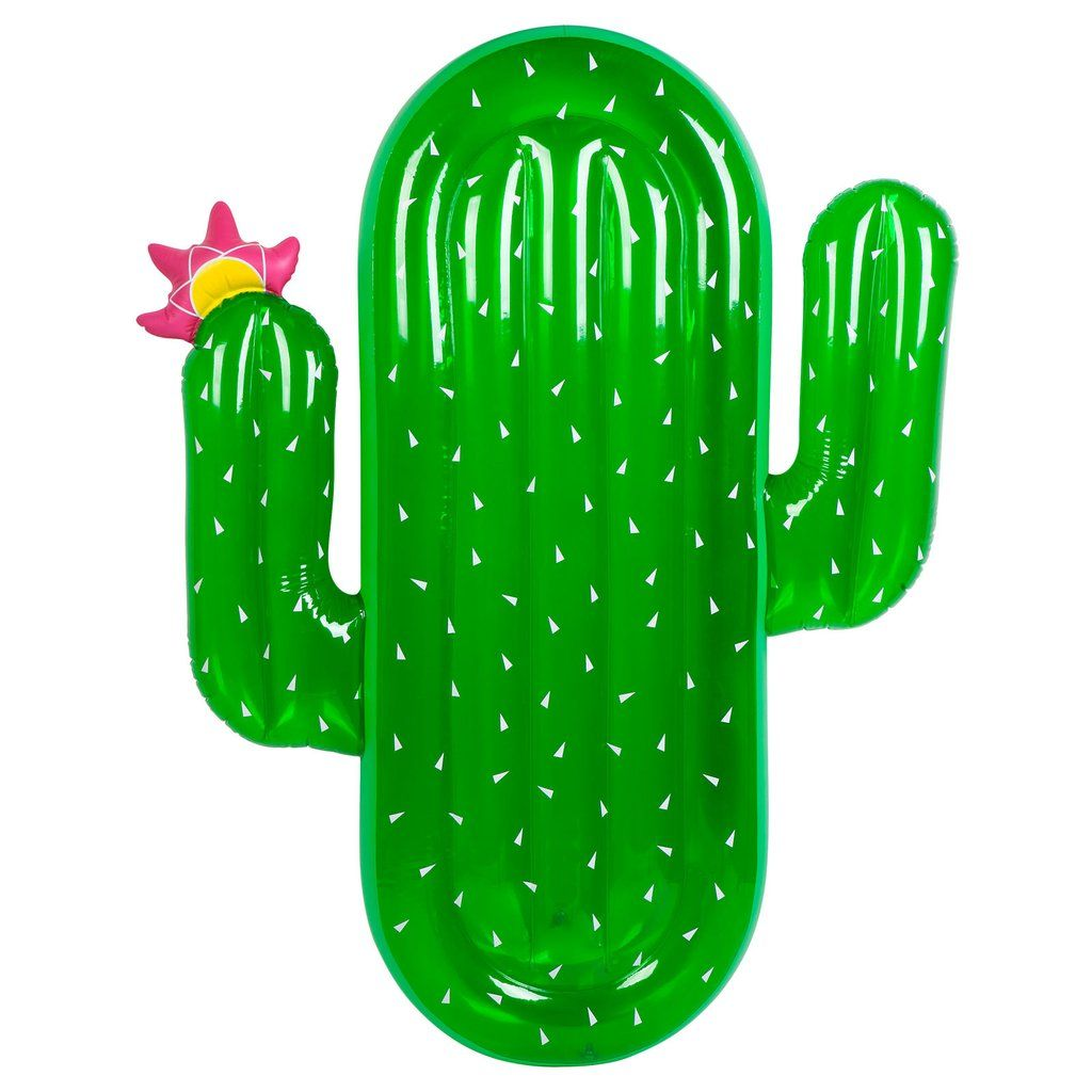 Summer is blowing upSunnylife's world famous floats guarantee that your summer won't suck - it'll blow! We don't mind if you're a little prickly before you climb atop the Cactus float to lay back and soak up dem rays. - 0.25mm PVC- Includes repair patch - in case of punctures136 x 174 x 18 cm