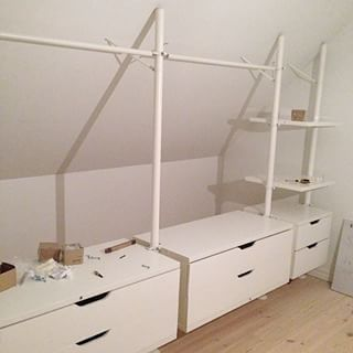 snedtak instagram photos snedtak garderobe pinterest dachschr ge ankleidezimmer und. Black Bedroom Furniture Sets. Home Design Ideas
