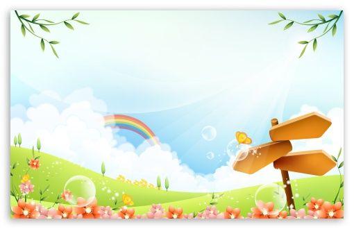 Download Childrens Day Hd Wallpaper Kartun Pemandangan Kertas