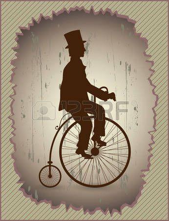 Gentleman sitting on the bike.
