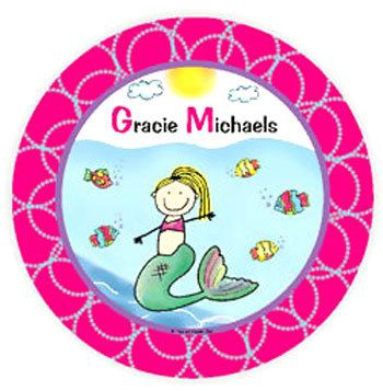 Mermaid Personalized Melamine Plate  For That Occasion  sc 1 st  Pinterest & Mermaid Personalized Melamine Plate :: For That Occasion | Kids ...