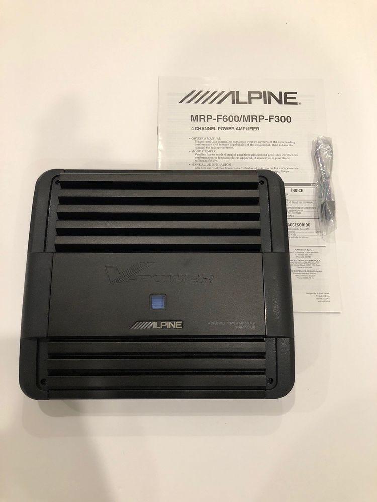 alpine mrp-f450 4-channel car amp #alpine