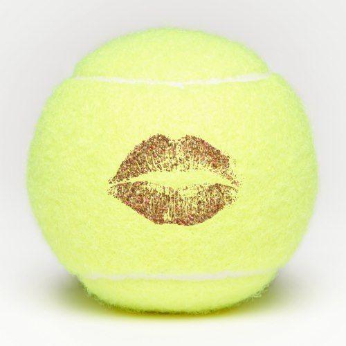 Orange Glitter Lips Tennis Balls Zazzle Com With Images