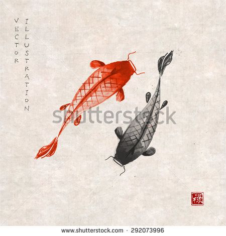 Hand Drawing Of A Japanese Carp Men/'s Tee Image by Shutterstock