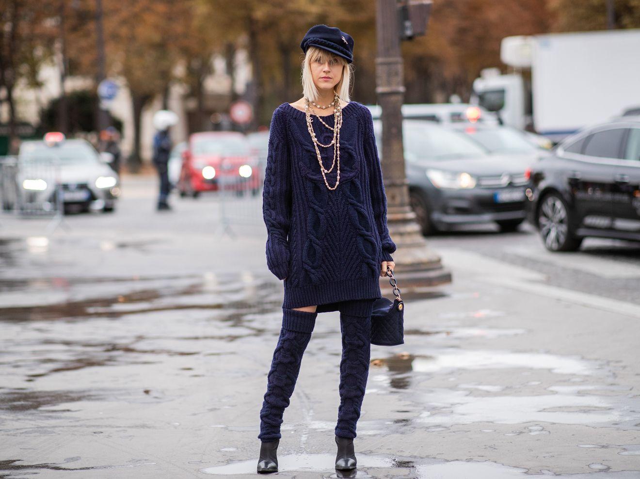 Sweatshirt- und Pulloverkleider: Outfits für den Winter ...