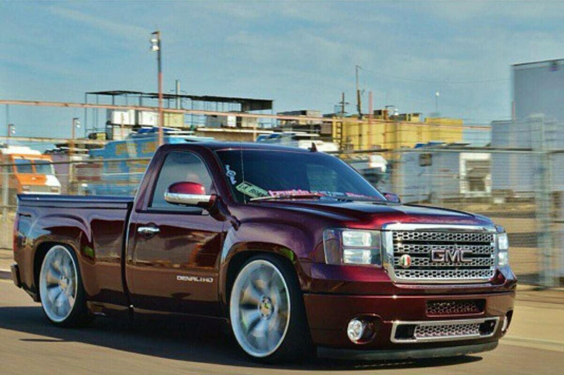Custom 2015 Gmc Sierra Swb Dropped Trucks Cool Trucks Single