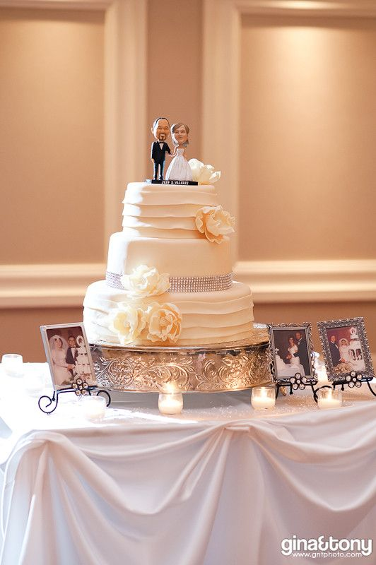 Wedding Cake With Bobblehead Toppers Summer At The Jw Marriott In Chicago