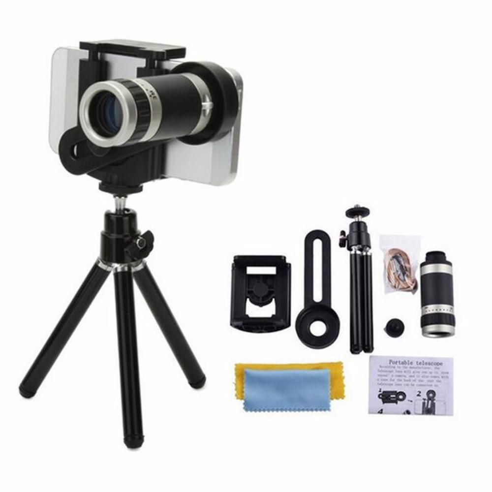 8X Zoom Longfocus Mobile Phone External Lens Universal