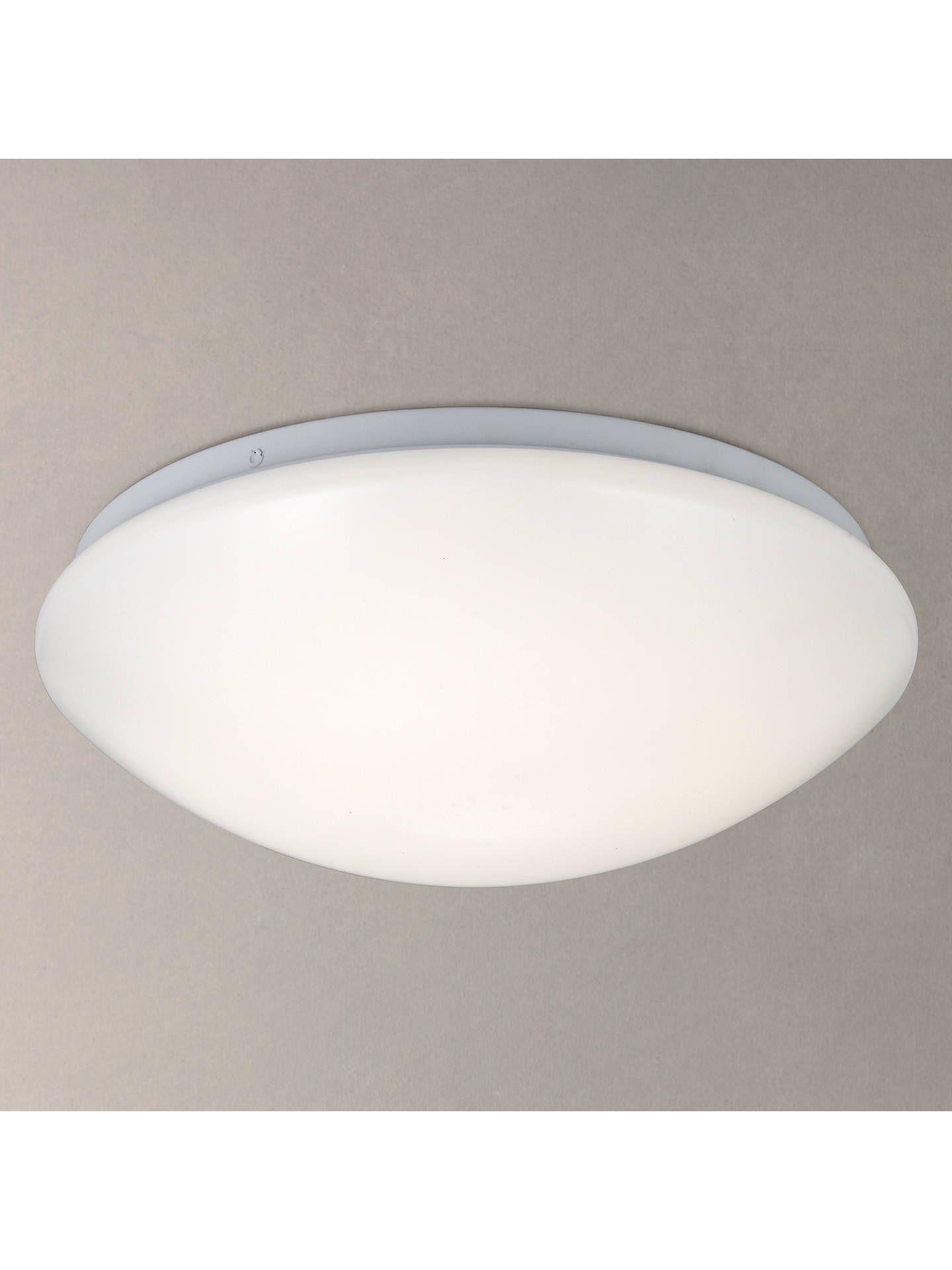 John Lewis Partners Saint Led Flush Bathroom Light Opal