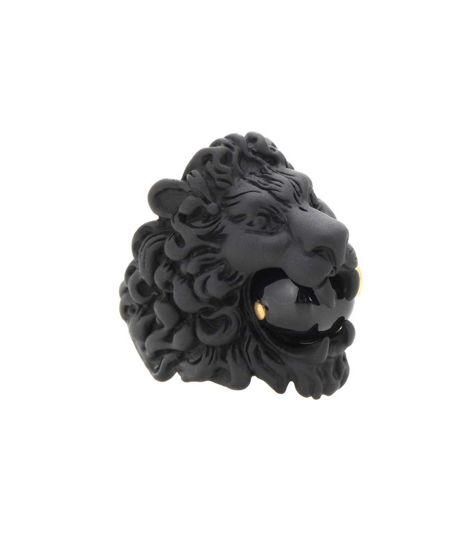 gold aggressive lion voronart head image by best ring rings