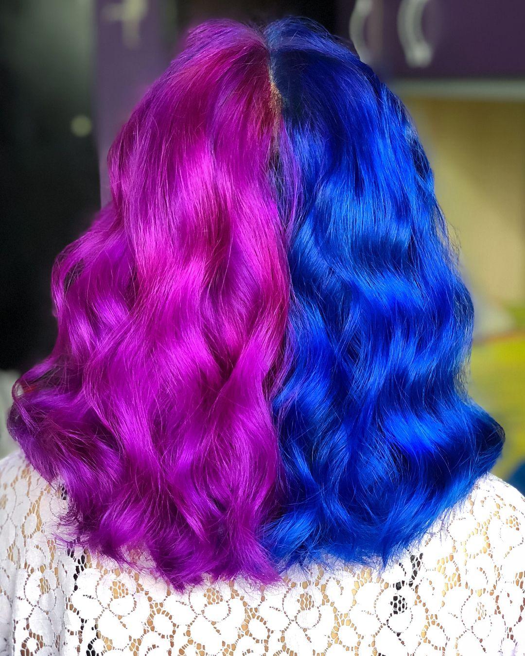 Split Hair Directions Hair Dye Split Hair Dyed Hair