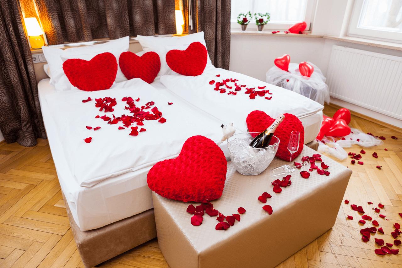 Schlafzimmer Deko Hochzeit