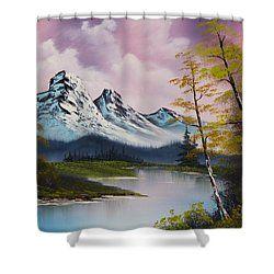 Pastel Fall Shower Curtain By C Steele Peinture Abstraite De