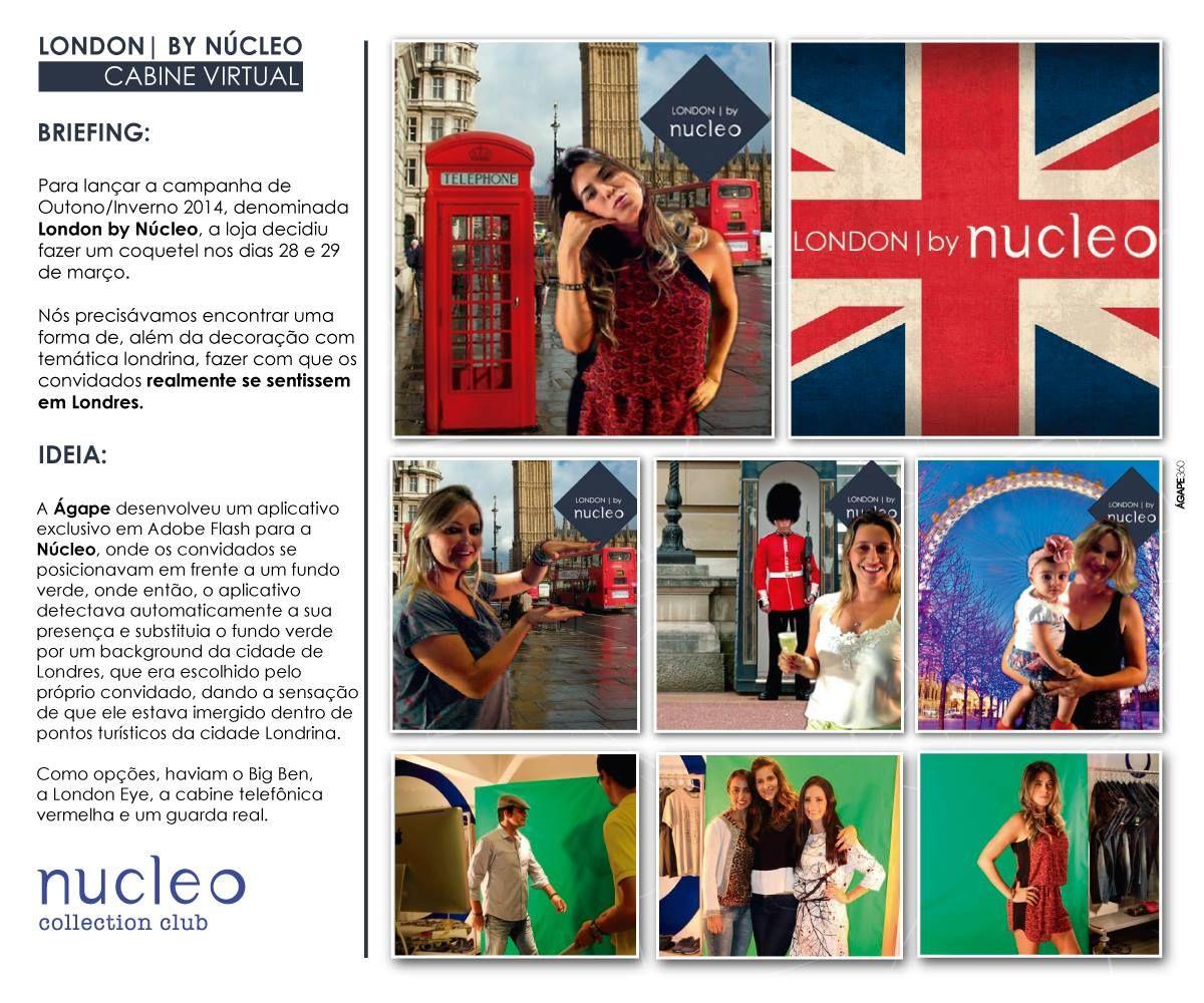 Ação alternativa criada para a Núcleo Collection Club no lançamento da Coleção London by Núcleo.