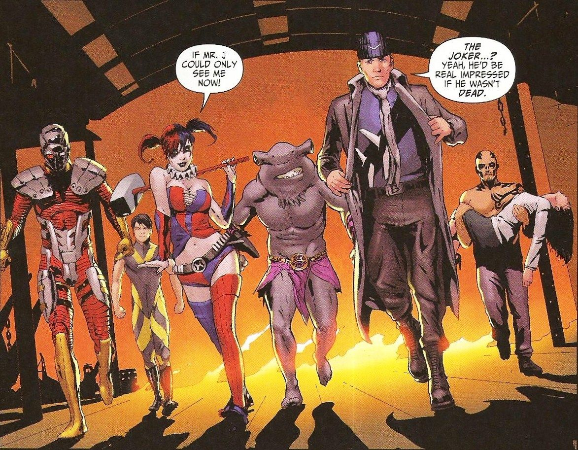 Suicide Squad New Harley Quinn learns Joker is dead from Captain Boomerang