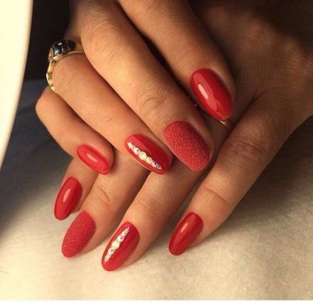 39 ideas for nails art matte almond  red nails red nail