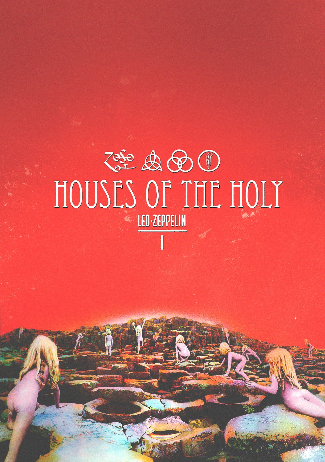 Led Zeppelin Houses Of The Holy 1973 By Julio Cesar