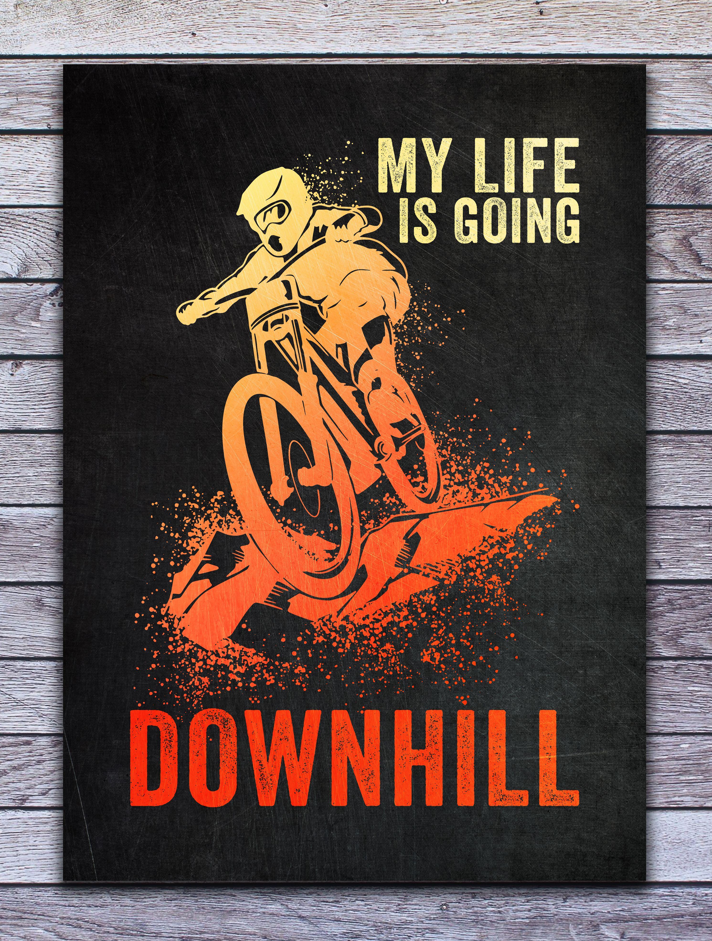 downhill biker poster by posterworld