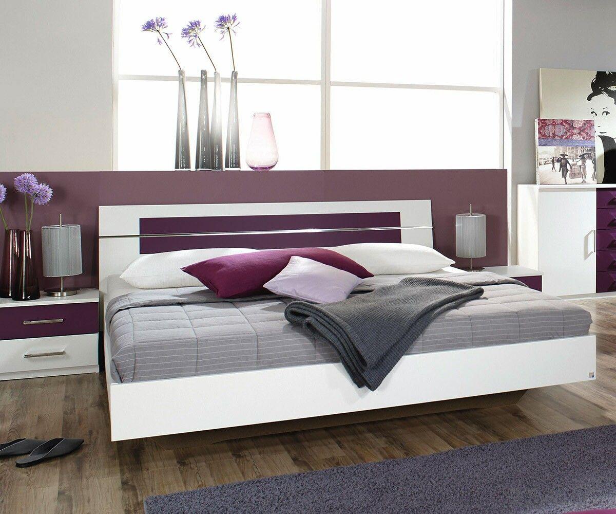 #Design #Bett Arwen 180x200 Cm In Weiss Und Brombeer Mit Dem Doppelbett  Arwen Zieht Nice Design