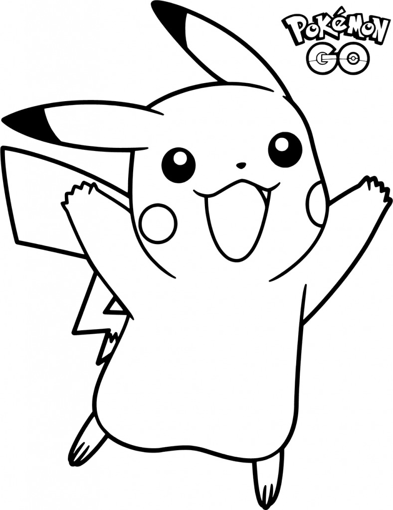Pokemon Go Coloring Pages Pikachu coloring page, Pokemon