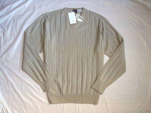 Men's Tse 100 Pure Cashmere Wide Rib V Neck Pullover Knit Top Sweater $675 L | eBay