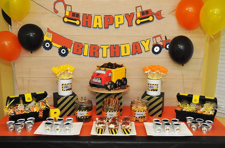 Construction Truck Birthday Cake Decoration With Construction Zoo Construction Birthday Party Cakes Construction Party Cakes Construction Theme Birthday Party