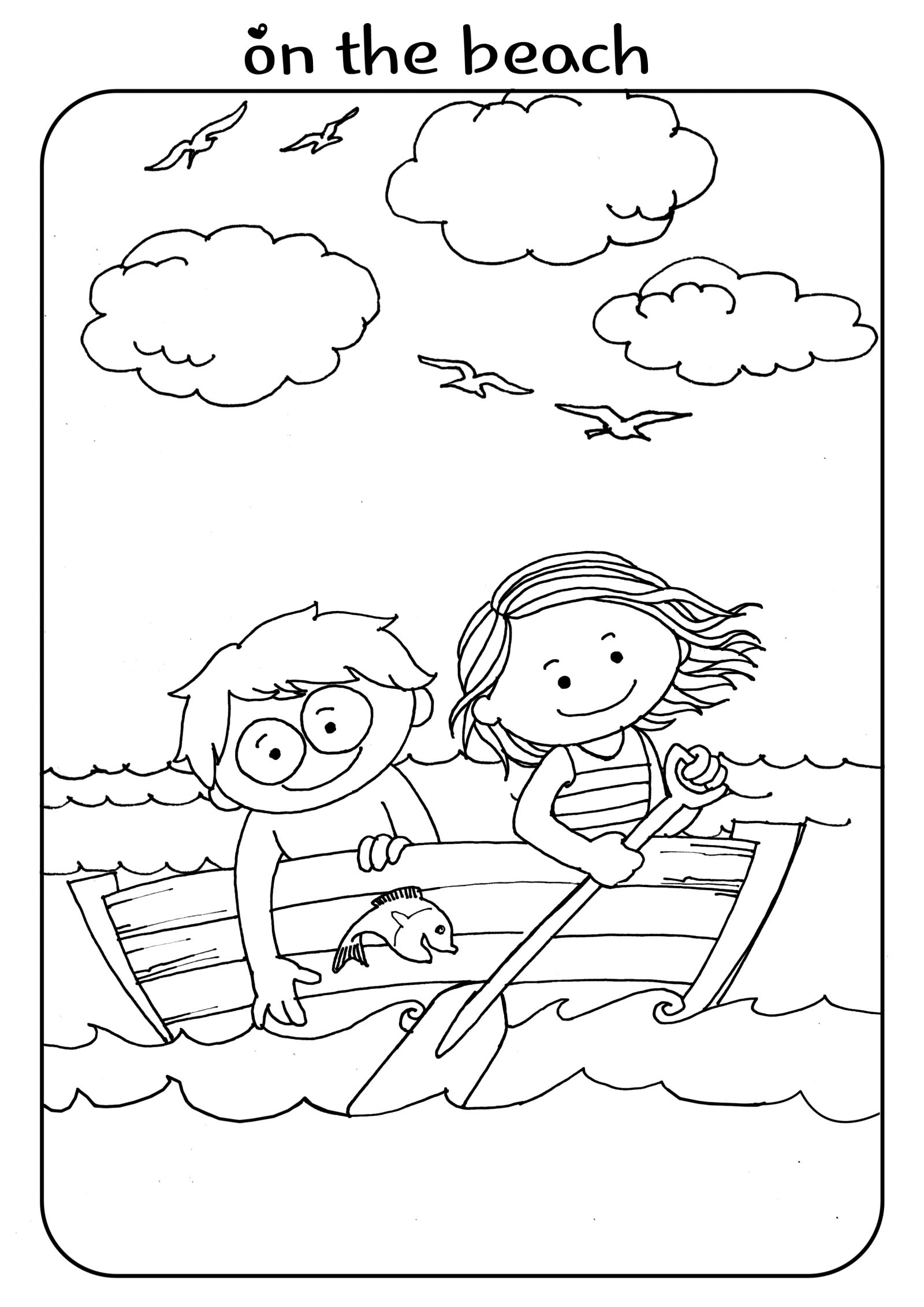 Beach Boat Kids Activity Coloring Page Girl Boy Freebies Beach Coloring Pages Coloring Pages For Boys Dolphin Coloring Pages [ 2263 x 1600 Pixel ]