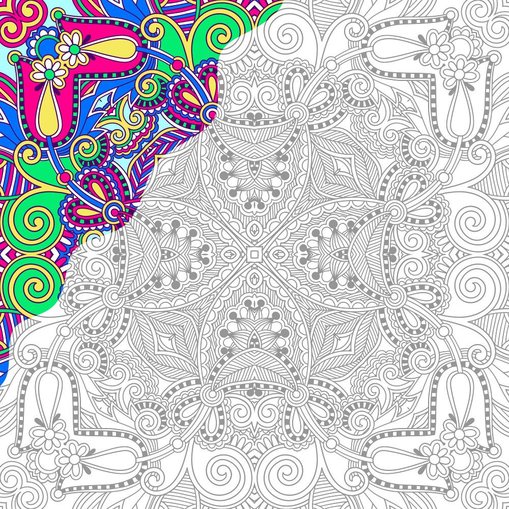 Square follow along adult coloring page 1 thumbnail