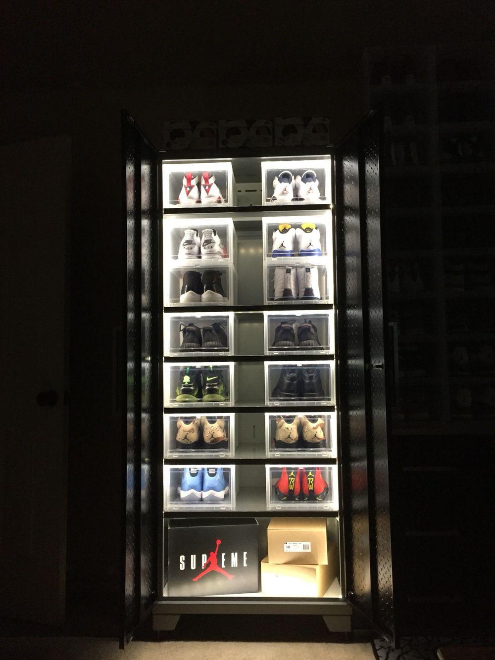 Jordan Sneaker Led Display Cabinet Sneakerroom Rack Storage Shoe