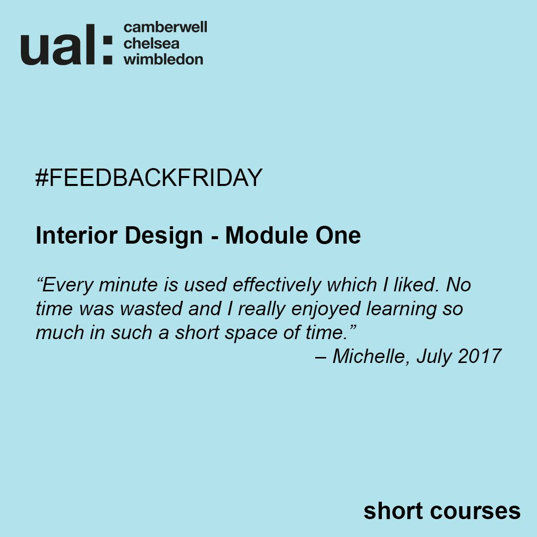 Feedback From Michelle Who Took Interior Design Module One In July 2017 Presentation Techniques Design Feedback For Students