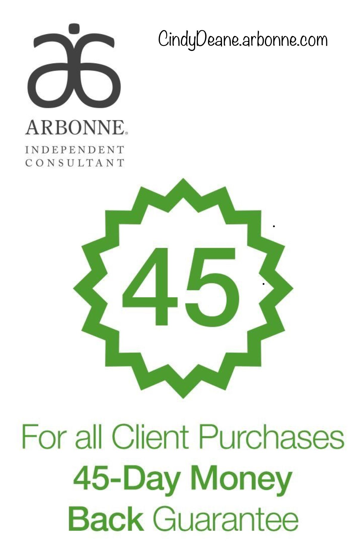 Customer satisfaction guaranteed. Arbonne, Anti aging