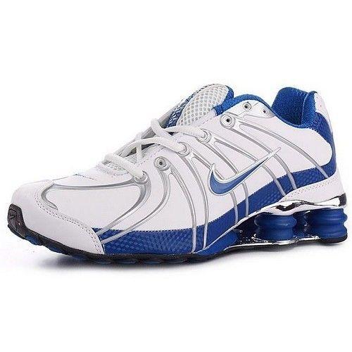 Most Wanted Nike Shox OZ White/Silver/University Blue Men Shoes 1005 $55