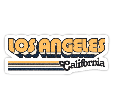 Los Angeles Ca City Stripes Sticker By Retroready Hydroflask Stickers Bubble Stickers Tumblr Stickers