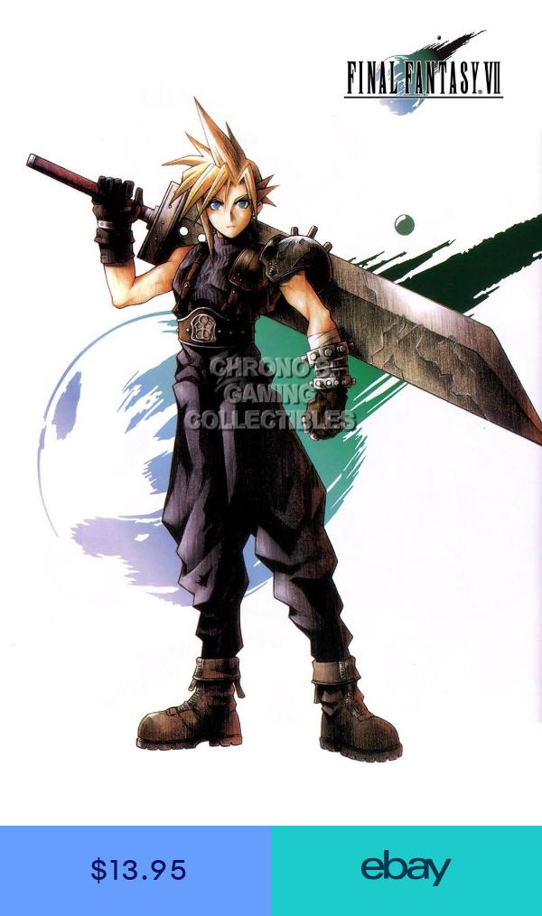 Rgc Huge Poster Final Fantasy Vii Cloud Strife Ps1 Psx Ps2 Psp Ps3 Ext037 Final Fantasy Vii Cloud Final Fantasy Cloud Final Fantasy Cloud Strife