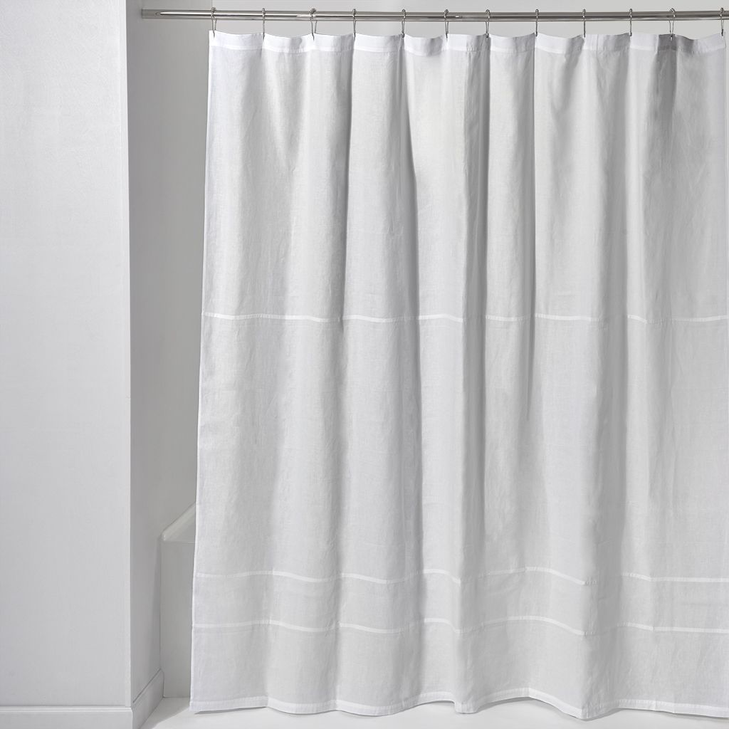 Discover Classic Linen Shower Curtain Online | Waterworks | NY ...
