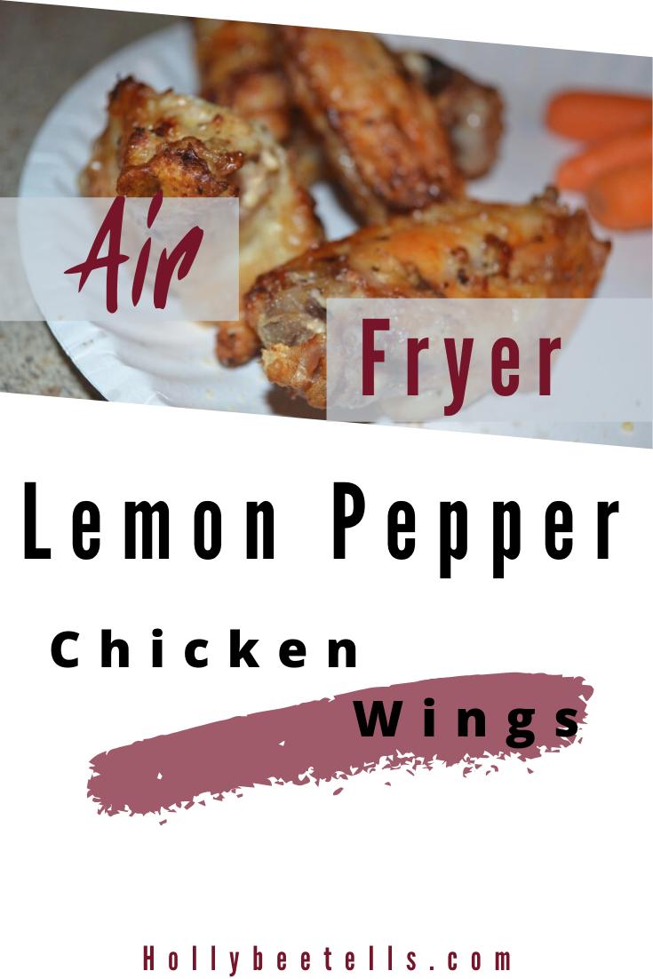 Mouth Watering Air Fryer Lemon Pepper Chicken Wings Hollybee Tells Recipe Stuffed Peppers Lemon Pepper Chicken Wings Lemon Pepper Chicken