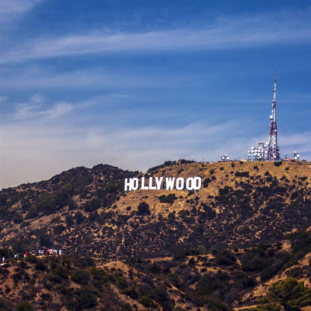 Hollywood Sign La America Sky Mountain Retina IPad Air Wallpaper