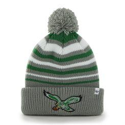 Men s  47 Brand Gray Philadelphia Eagles Incline Cuffed Pom Knit Hat ... 93cd6c9d3