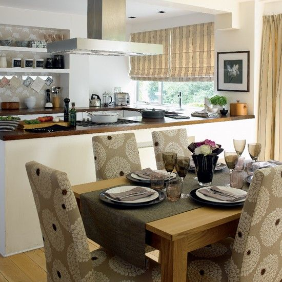 Stylish Open-plan Kitchen-dining Room