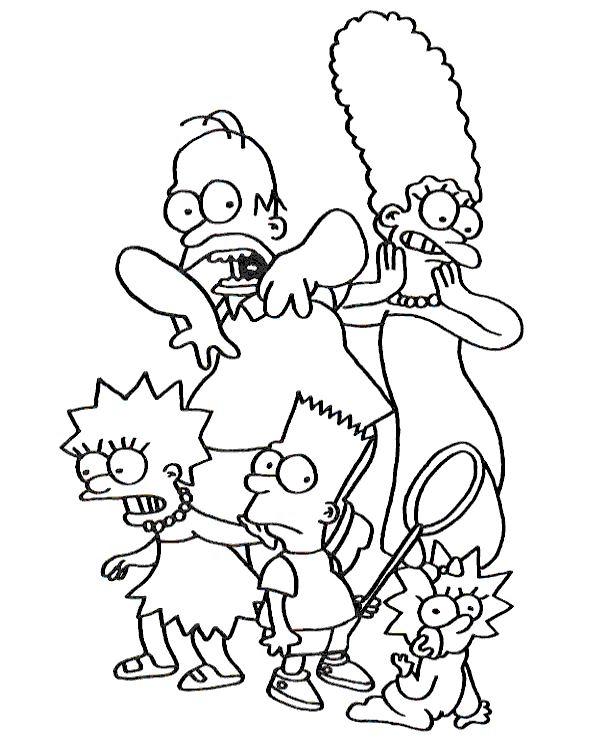 Simpsons Colouring Books In 2020 Family Coloring Pages Cartoon Coloring Pages Coloring Books