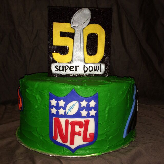 Super bowl 50 NFL cake by yuMM