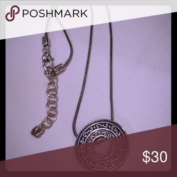 Brighton necklace brighton round pendant and sterling silver brighton necklace aloadofball Gallery