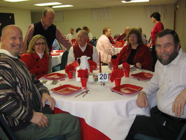 friends including our phil at a church valentine banquet phil went home with