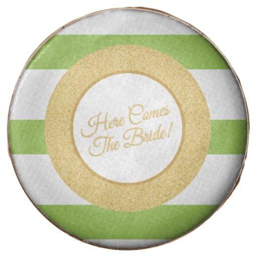 Lime Green Bridal Shower, Custom Printed Cookies