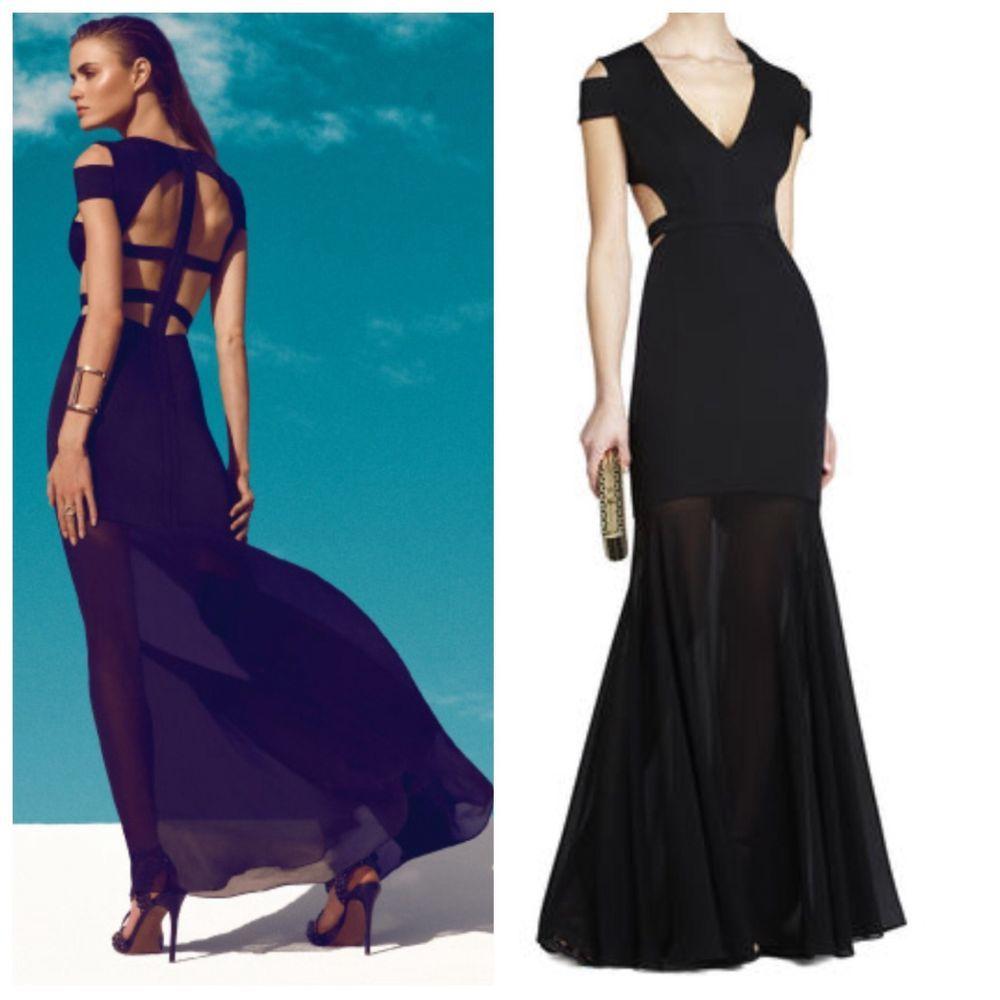 NEW BCBG Black AVA Cutout Gown 10 $448 XVR6W823 #BCBGMaxAzria #Maxi ...