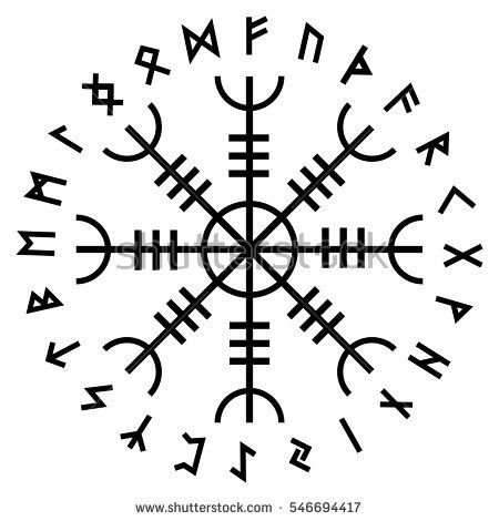 stock-vector-aegishjalmur-helm-of-awe-helm-of-terror-icelandic-magical-staves-with-scandinavian-runes-546694417.jpg (450×470)