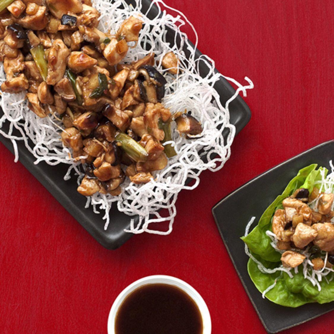 Almost Famous Chicken Lettuce Wraps Recipe In 2020 Chicken Lettuce Wraps Lettuce Wraps Lettuce Wrap Recipes